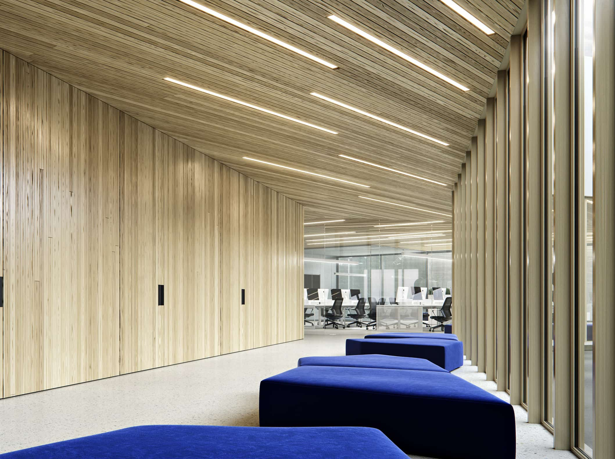 Interior design of the IT company office. M3 Architects.