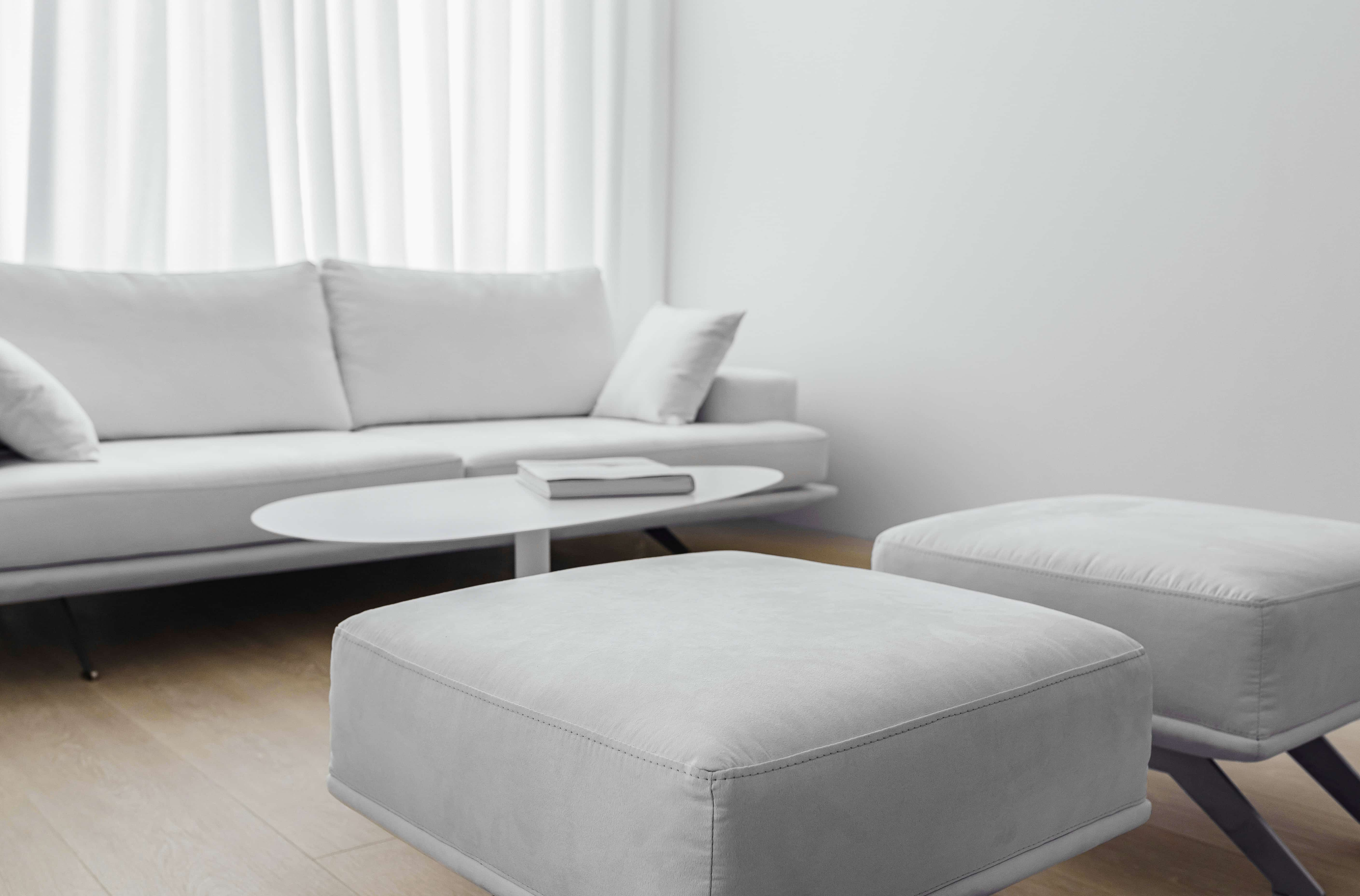 minimalist living space detail