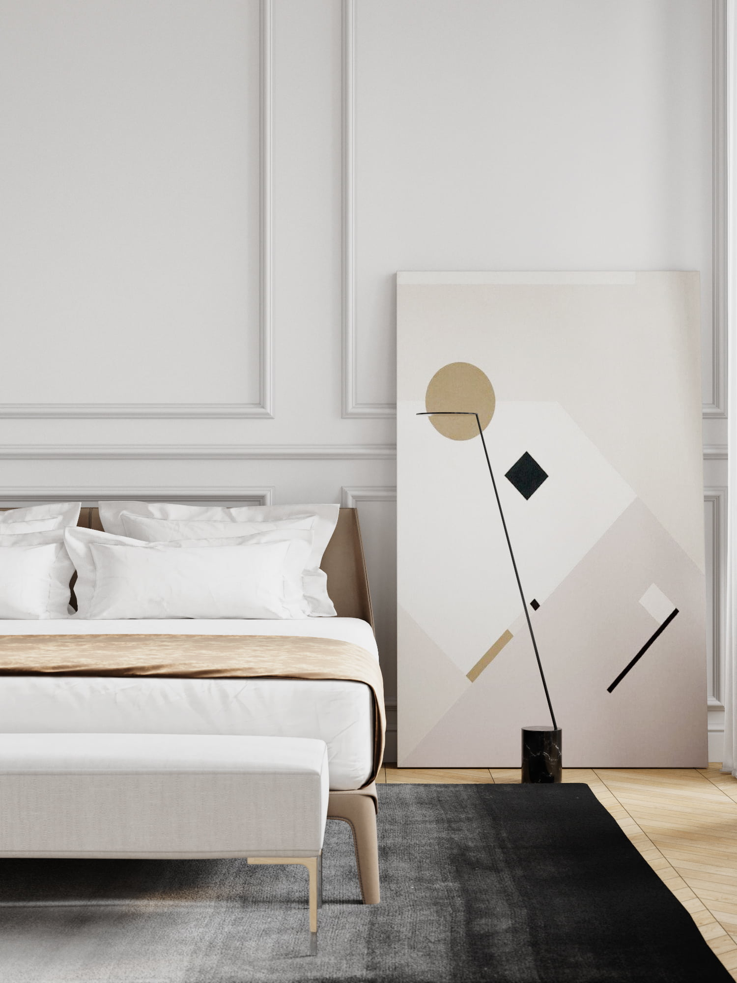 modern classic bedroom design paquette