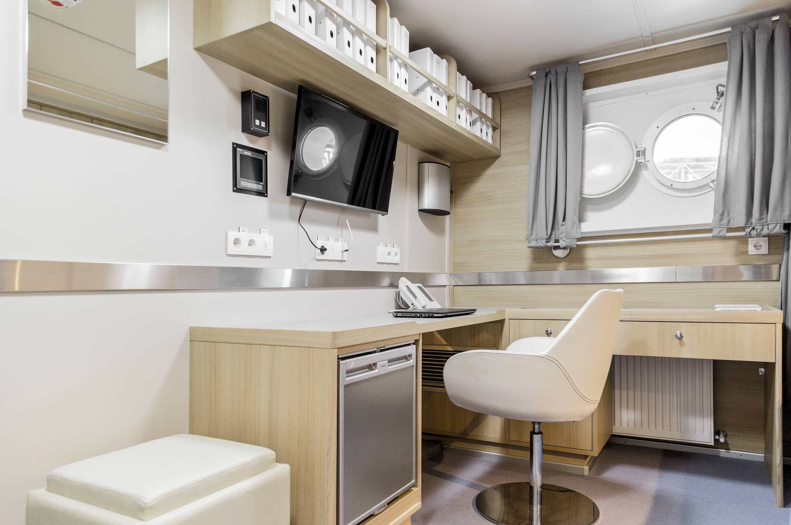 tugboat captain cabin interior design