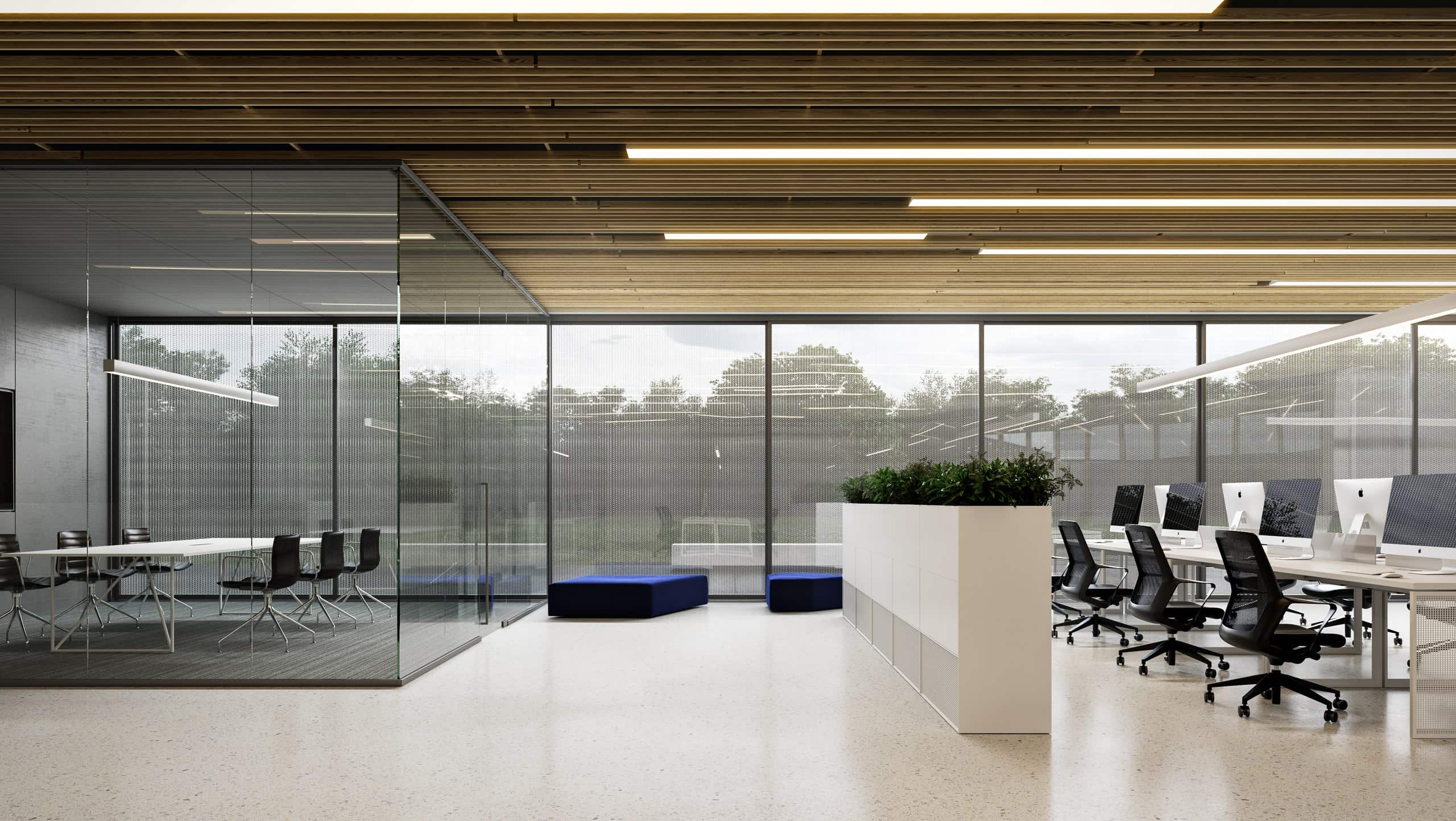 IT office building meeting room interior design