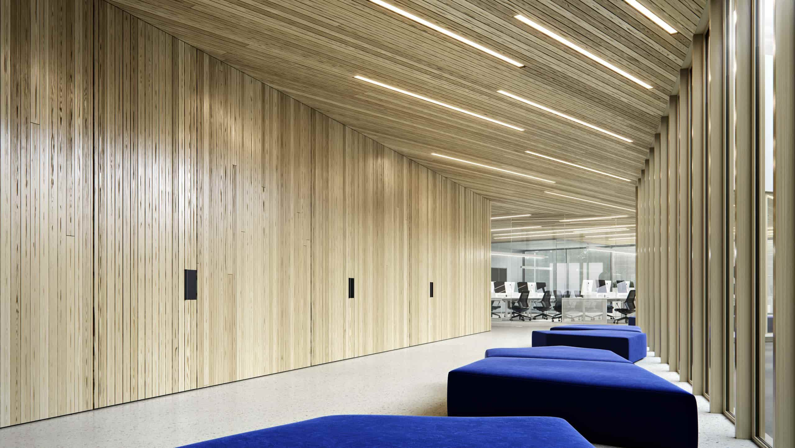 IT office building hall interior design